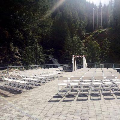 Waterfall wedding site