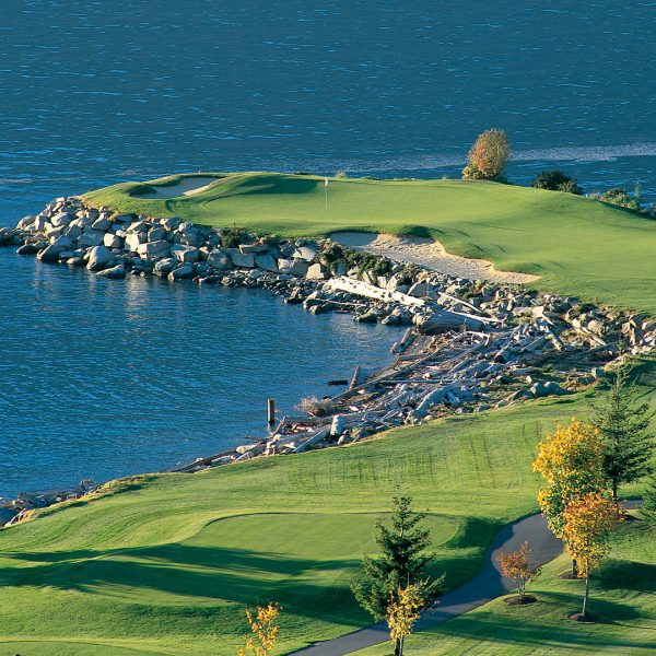 "The 14th hole at Furry Creek ""Tee to Sea"""