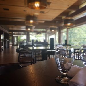 restaurant seating glass clear